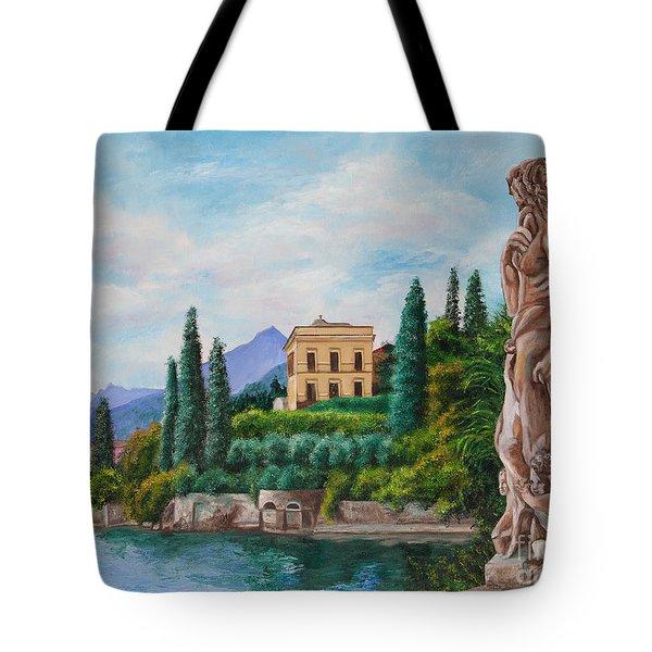 Watching Over Lake Como Tote Bag by Charlotte Blanchard