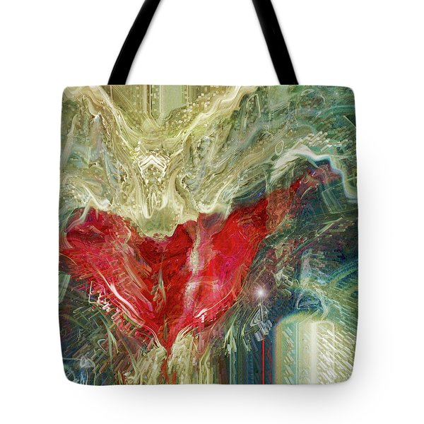 Tote Bag featuring the digital art Watching Over  by Linda Sannuti