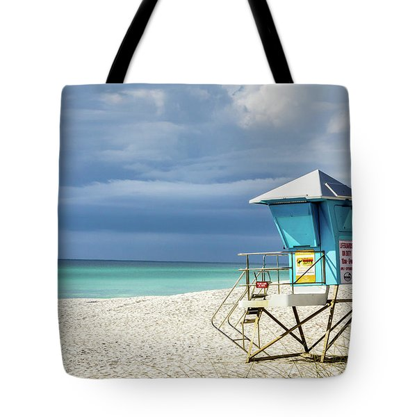 Lifeguard Tower Florida Gulf Coast Tote Bag