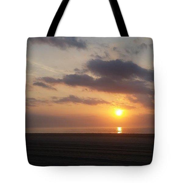 Watching Sunrise Tote Bag