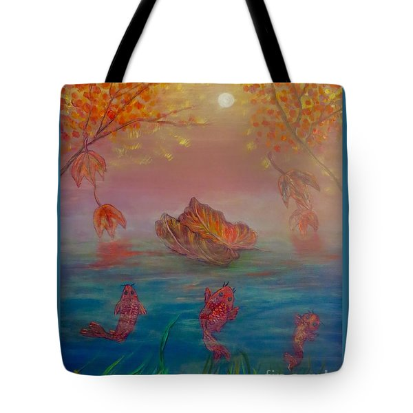 Watching The Dance Of The Fallen Elements Tote Bag