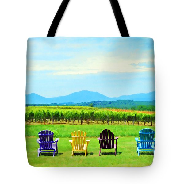 Watching The Grapes Grow Tote Bag