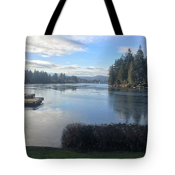 Tote Bag featuring the photograph Watching The Ice Melt by Victor K