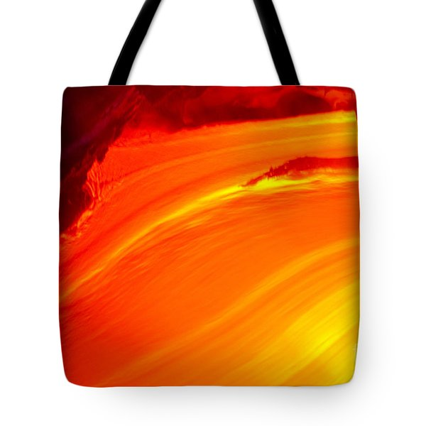 Watching The Lava Flow Tote Bag by Erik Aeder - Printscapes