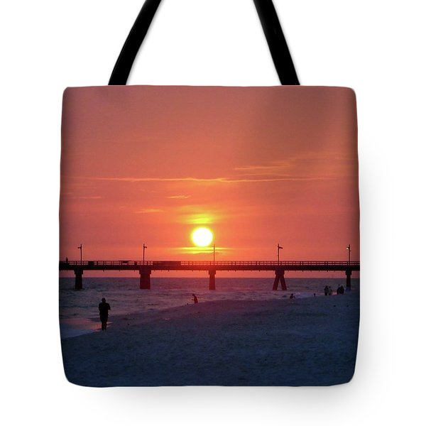 Watching The Sunset Tote Bag by Sandy Keeton