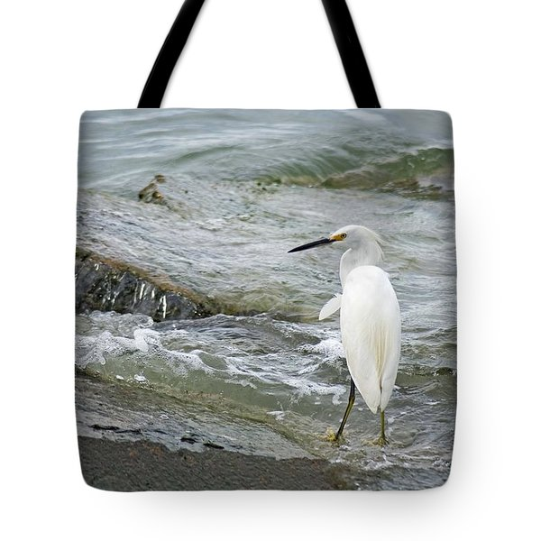Watching The Tide Come In Tote Bag