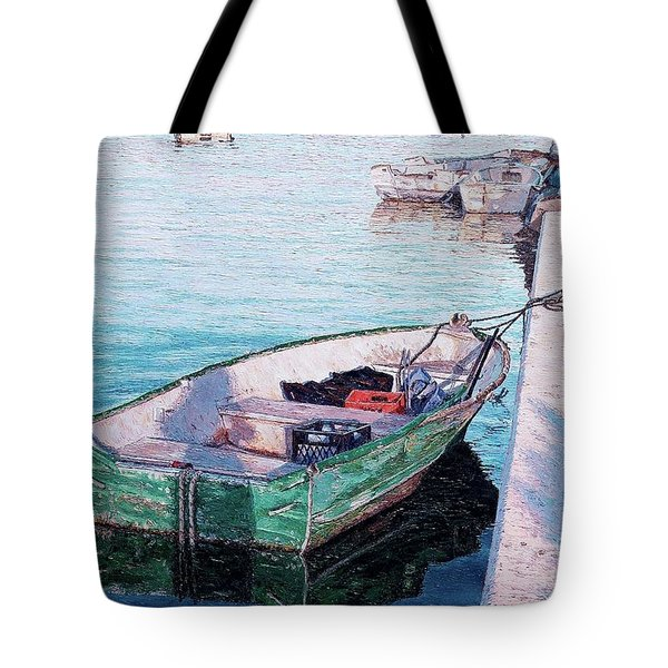 Watching The Tide Tote Bag