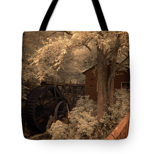 Watching The Wheels Tote Bag