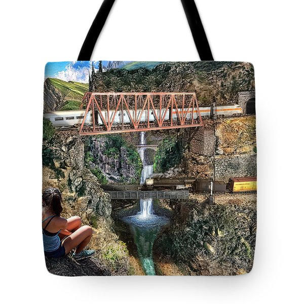Watching The World Go By Tote Bag by Michael Cleere
