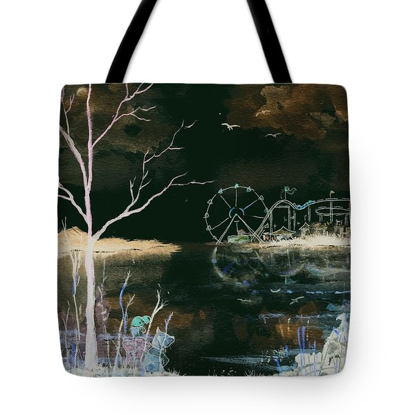 Watching The World Go Round Inverted Tote Bag