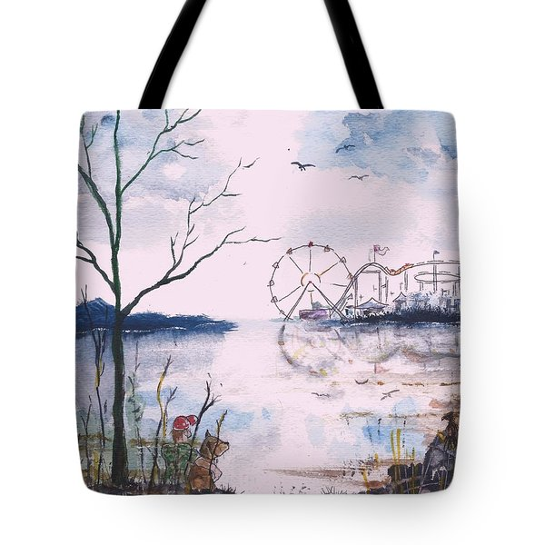 Watching The World Go Round Tote Bag