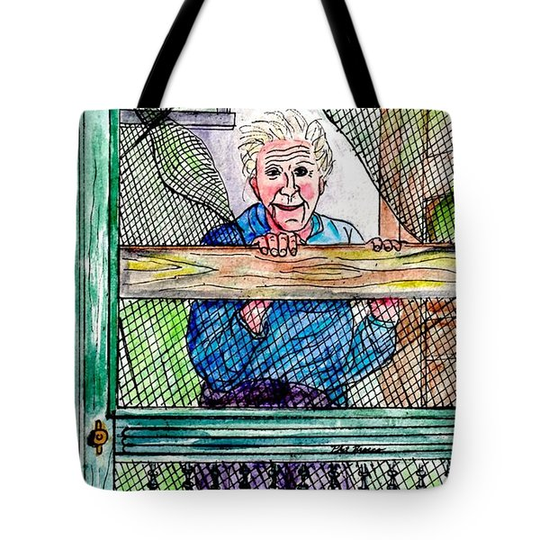 Watching To See If The Kids Are Coming Tote Bag by Philip Bracco