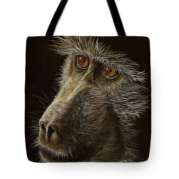 Tote Bag featuring the drawing Watching You by Heidi Kriel