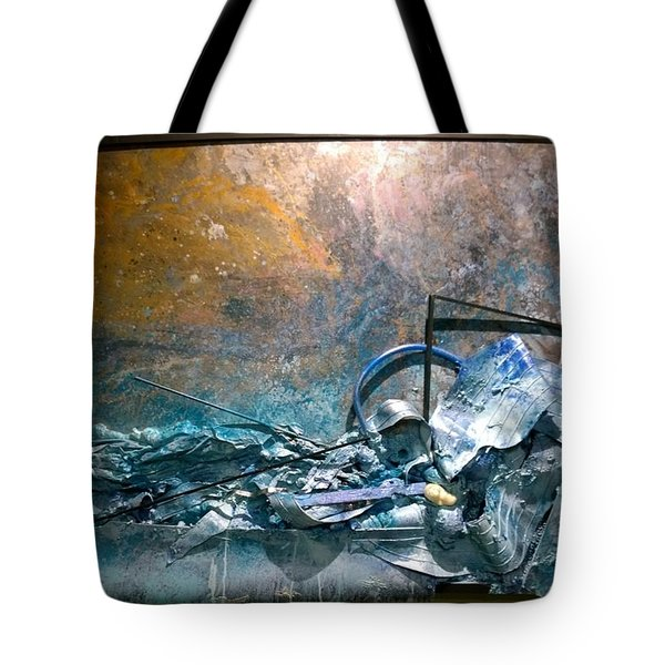 Tote Bag featuring the mixed media Water Abstract #31017 by Robert Anderson