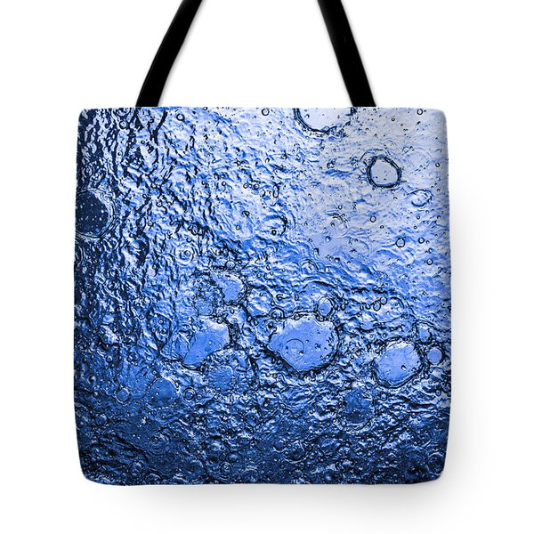 Water Abstraction - Blue Rain Tote Bag by Alex Potemkin