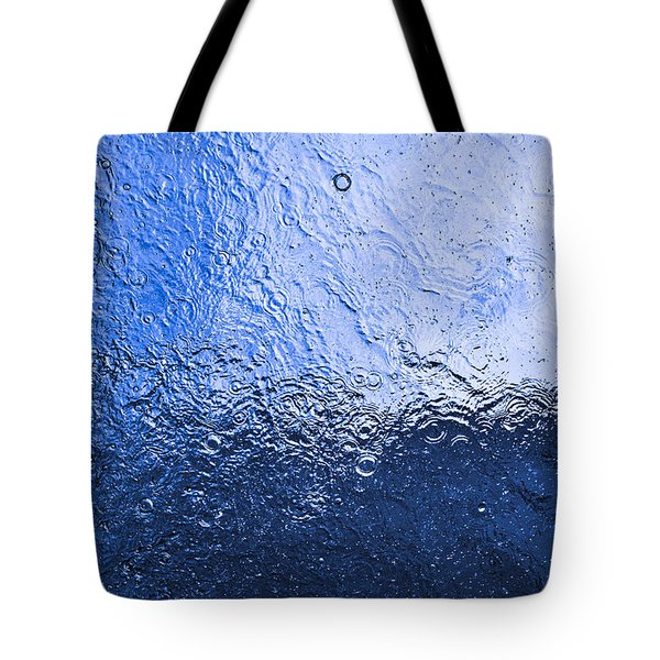 Water Abstraction - Blue Reflection Tote Bag by Alex Potemkin