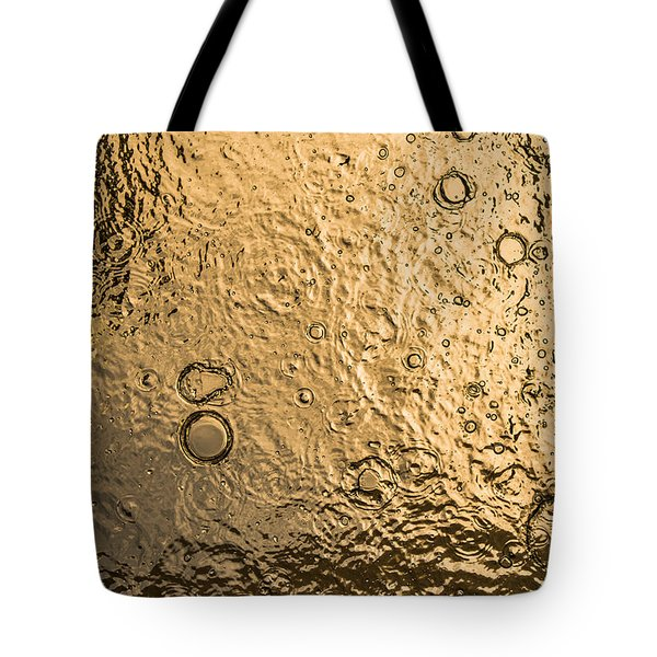 Water Abstraction - Liquid Gold Tote Bag by Alex Potemkin