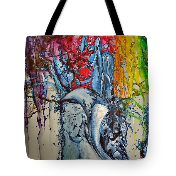 Water And Colors Tote Bag
