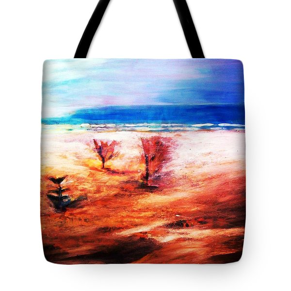 Tote Bag featuring the painting Water And Earth by Winsome Gunning
