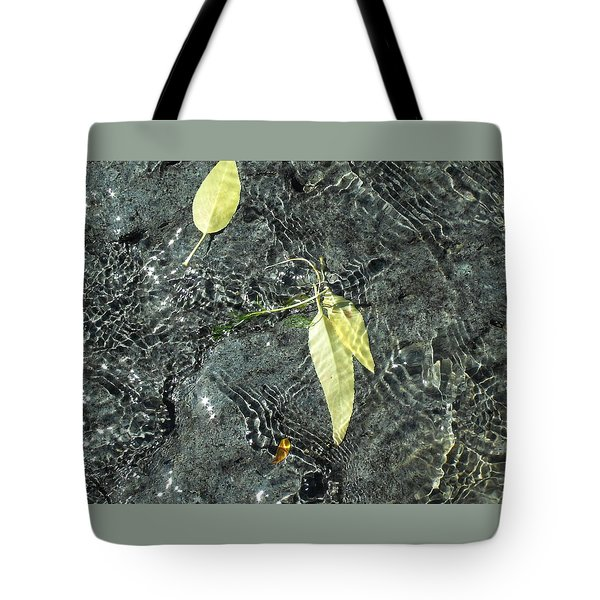 Water And Leaves Tote Bag
