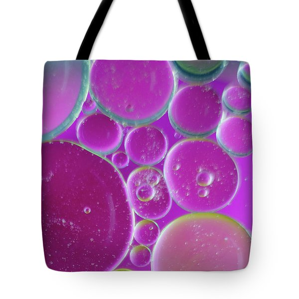 Water And Oil Bubbles  Tote Bag