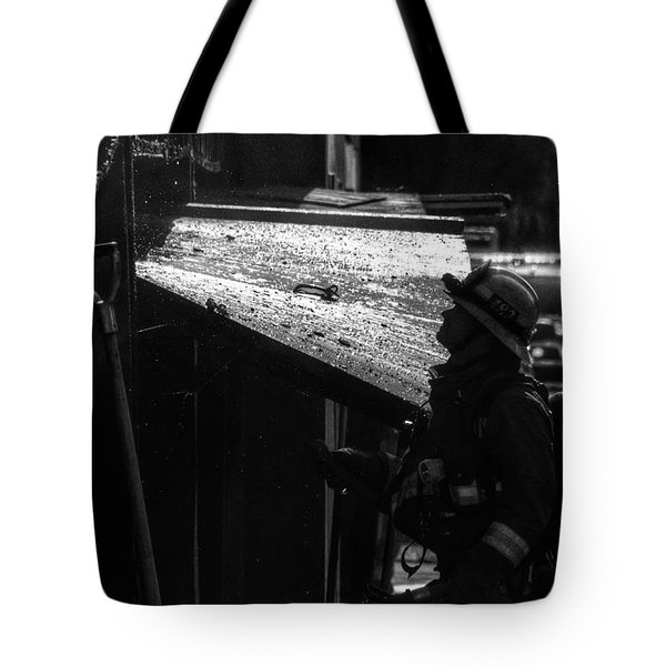 Water And Soot Tote Bag