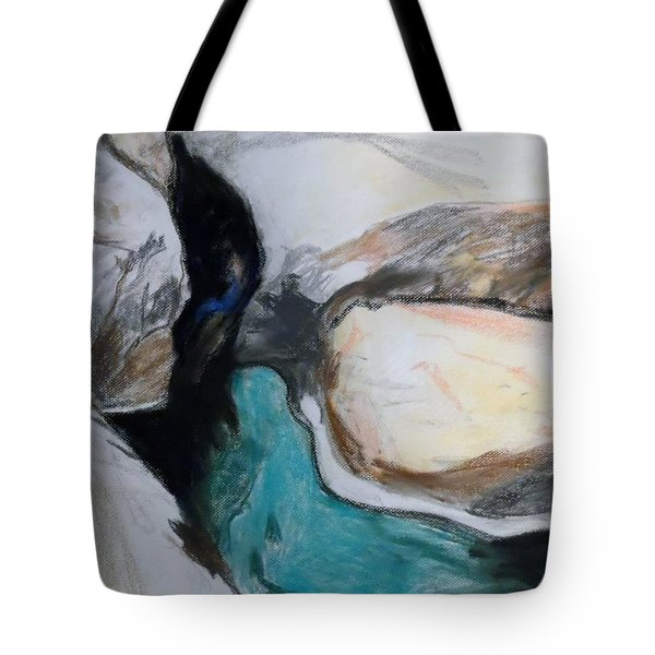 Water Between The Rocks Tote Bag by Esther Newman-Cohen
