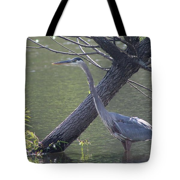 Water Bird And River Tree Tote Bag