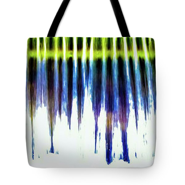 Tote Bag featuring the photograph Water Brushes by Tom Vaughan