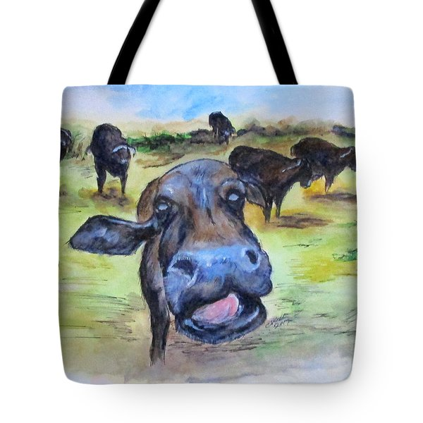 Water Buffalo Kiss Tote Bag