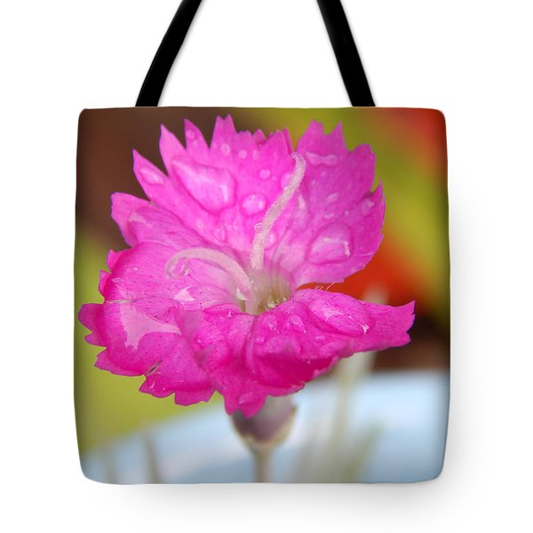 Water Bug Flower Tote Bag