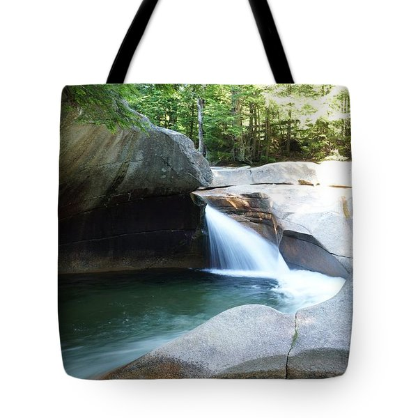 Tote Bag featuring the photograph Water-carved Rock by Kerri Mortenson