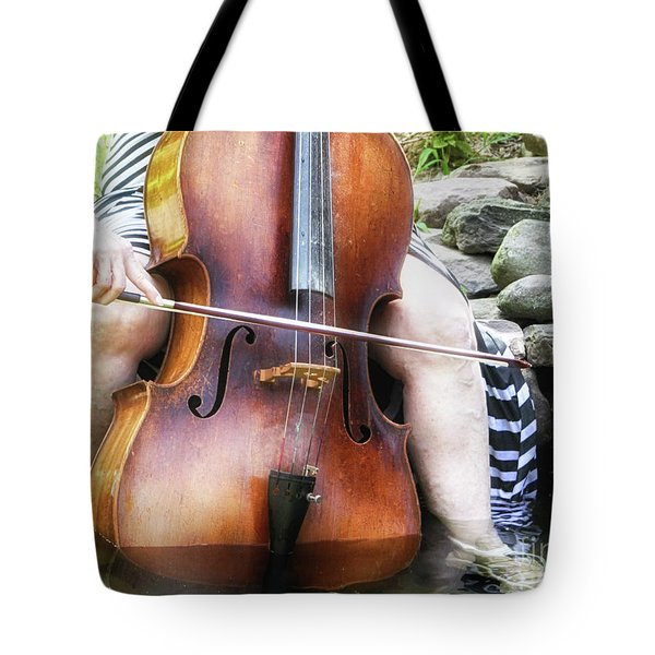 Water Cello  Tote Bag by Steven Digman