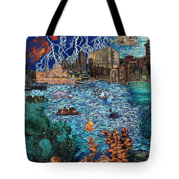 Water City Tote Bag by Emily McLaughlin