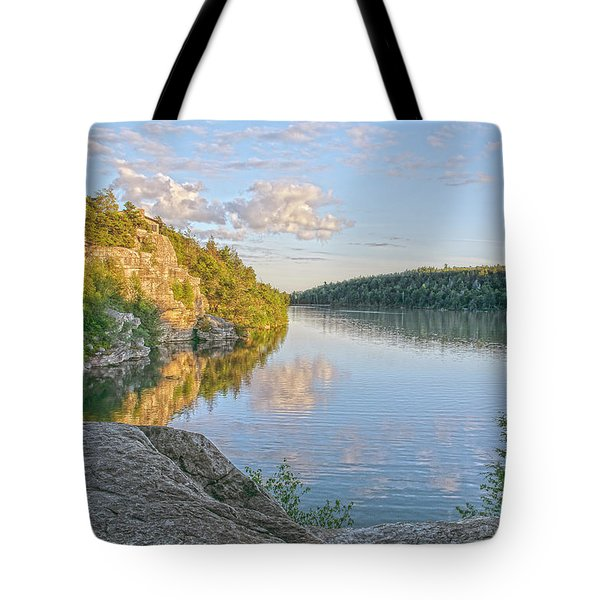 Water, Clouds And Blue Tote Bag