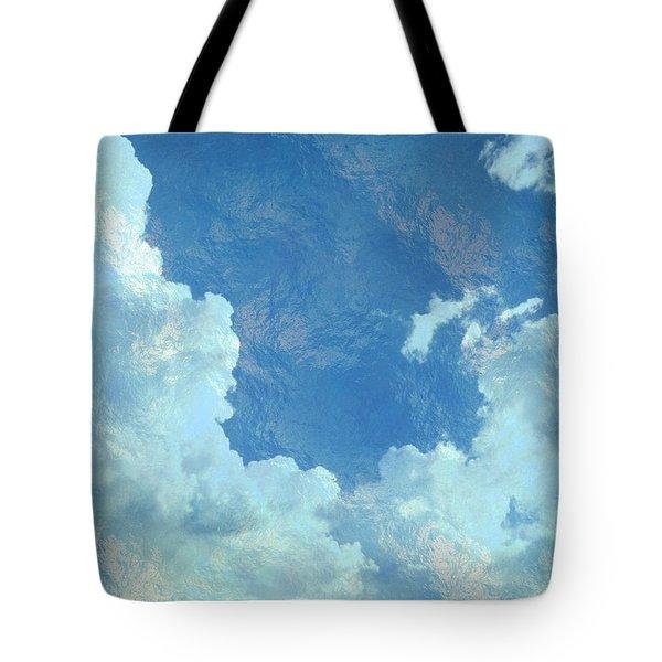 Water Clouds Tote Bag