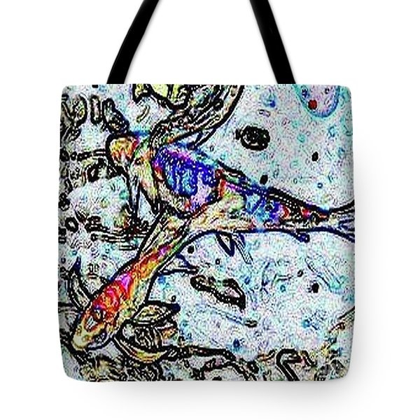 Water Color Koi Tote Bag