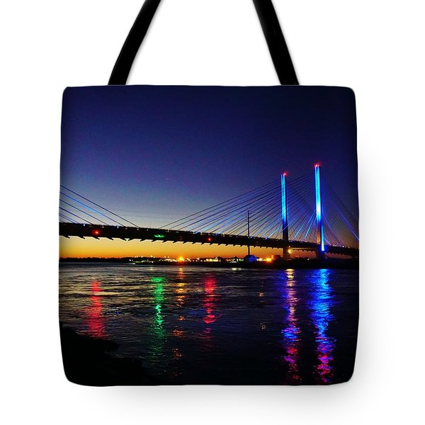 Tote Bag featuring the photograph Water Colors by Ed Sweeney
