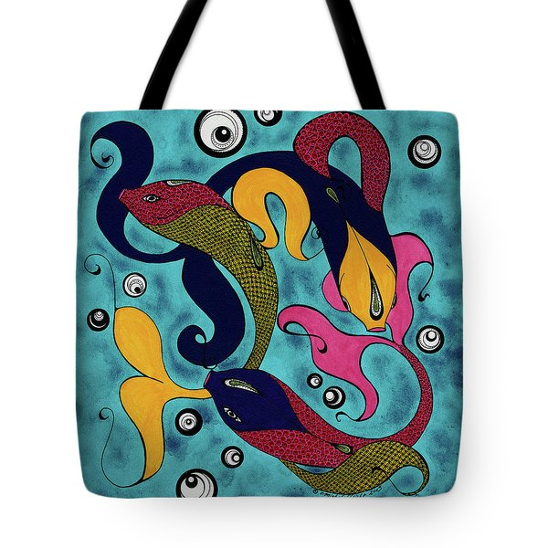 Water Dance Tote Bag