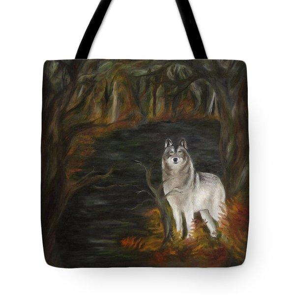 Water Dark Tote Bag