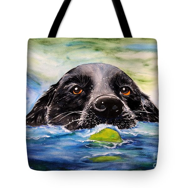 Water Dog Tote Bag