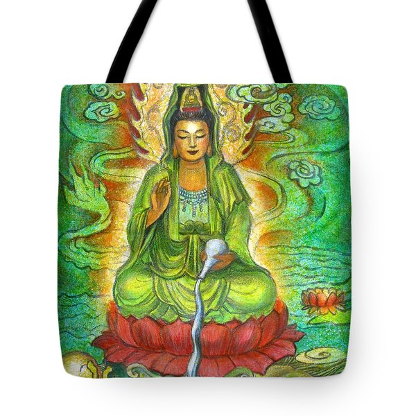 Water Dragon Kuan Yin Tote Bag