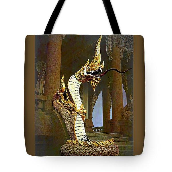 Water Dragon-  Phaya Naga Tote Bag