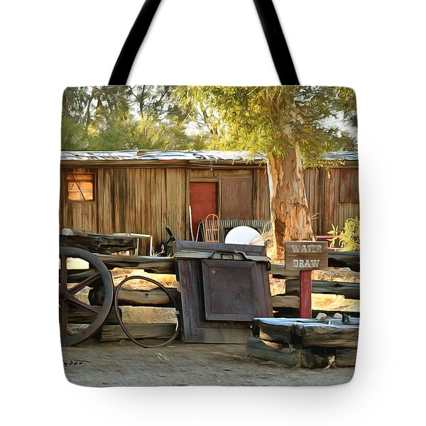 Tote Bag featuring the photograph Water Draw At Hotel Nipton California By Floyd Snyder by Floyd Snyder
