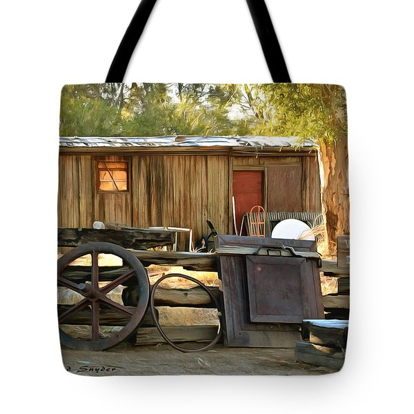 Tote Bag featuring the photograph Water Draw At Hotel Nipton California Detail by Floyd Snyder