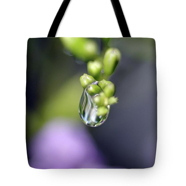Tote Bag featuring the photograph Water Droplet Iv by Richard Rizzo