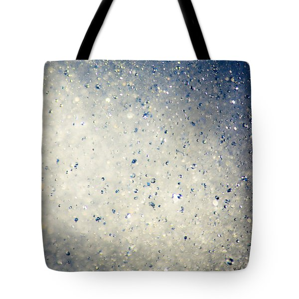 Tote Bag featuring the photograph Water Droplets by Gregg Cestaro