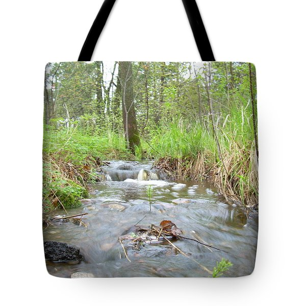 Water Flows After A May Rain Tote Bag by Kent Lorentzen