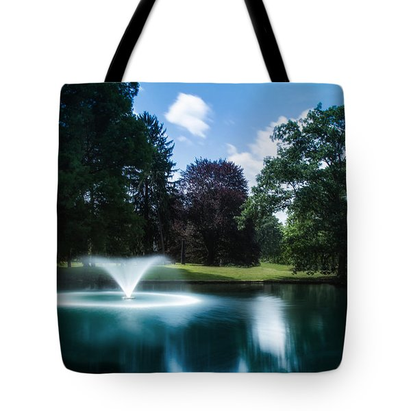 Water Fountain At Spring Grove Tote Bag