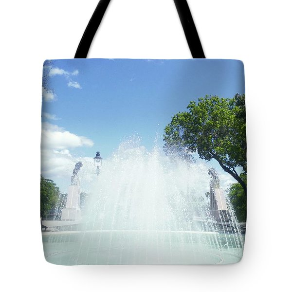 Water Fountain Ponce, Puerto Rico Tote Bag